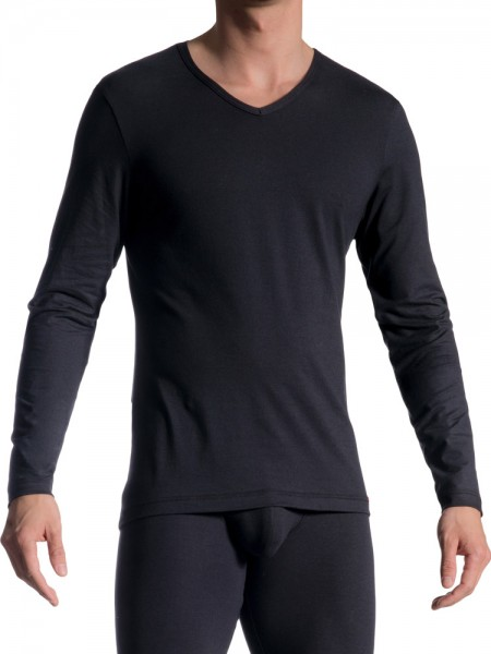 Olaf Benz RED1601: Longshirt, schwarz