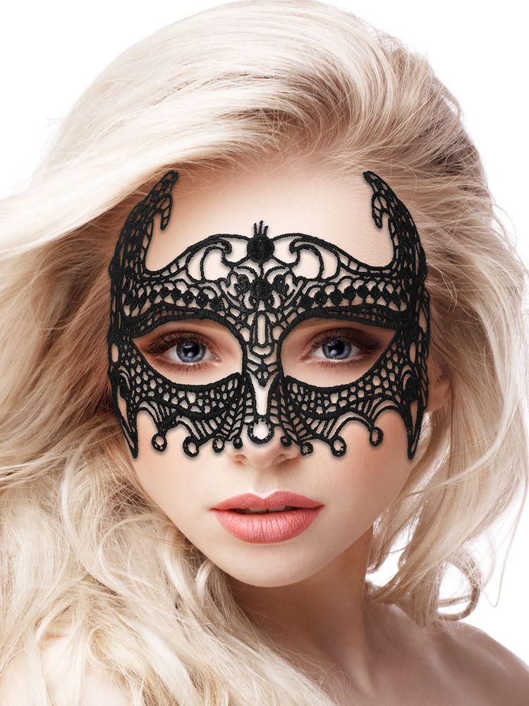 Ouch! Maske: Empress Black Lace, schwarz