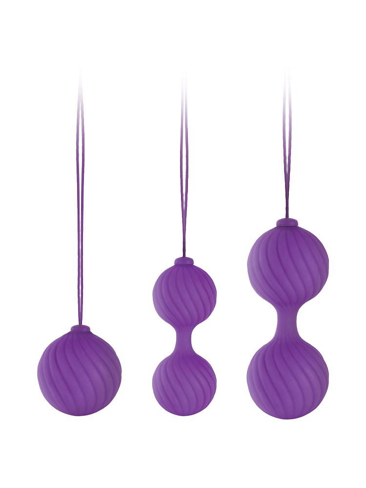 Luxe O Weighted Kegel Balls: Liebeskugel-Set, lila