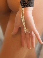 Bracli Sensation: Perlen-Armstulpe, schwarz