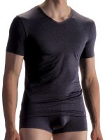 Olaf Benz PEARL1858: V-Neck-Shirt, schwarz
