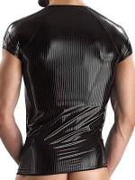 Eros Veneziani Nicolo: Wetlook-Shirt, schwarz