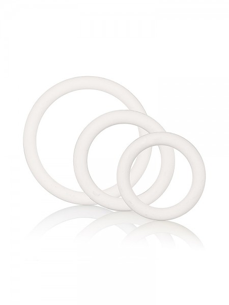 Rubber Ring Set: Penisringe-Set, weiß