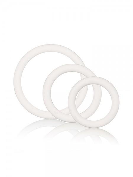 Rubber Ring Set: Penisringe-Set, weiß
