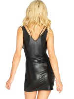 Leg Avenue Wetlook-Minikleid: Reese, schwarz
