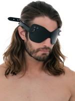 Ouch! Skulls and Bones Skulled and Spiked Blackout Mask: Augenmaske, schwarz