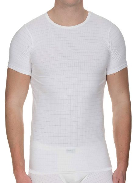 Bruno Banani Check Line 2.0: T-Shirt, weiß