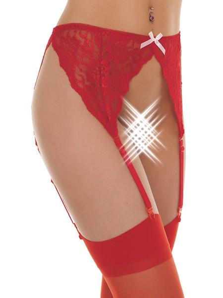 Strapsgürtel mit Strümpfen: Lea, rot