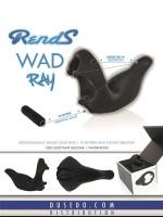 Rends WAD Ray: Vibro-Penisring, schwarz