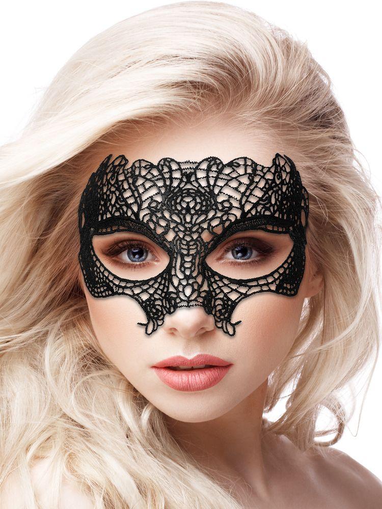 Ouch! Maske: Princess Black Lace, schwarz