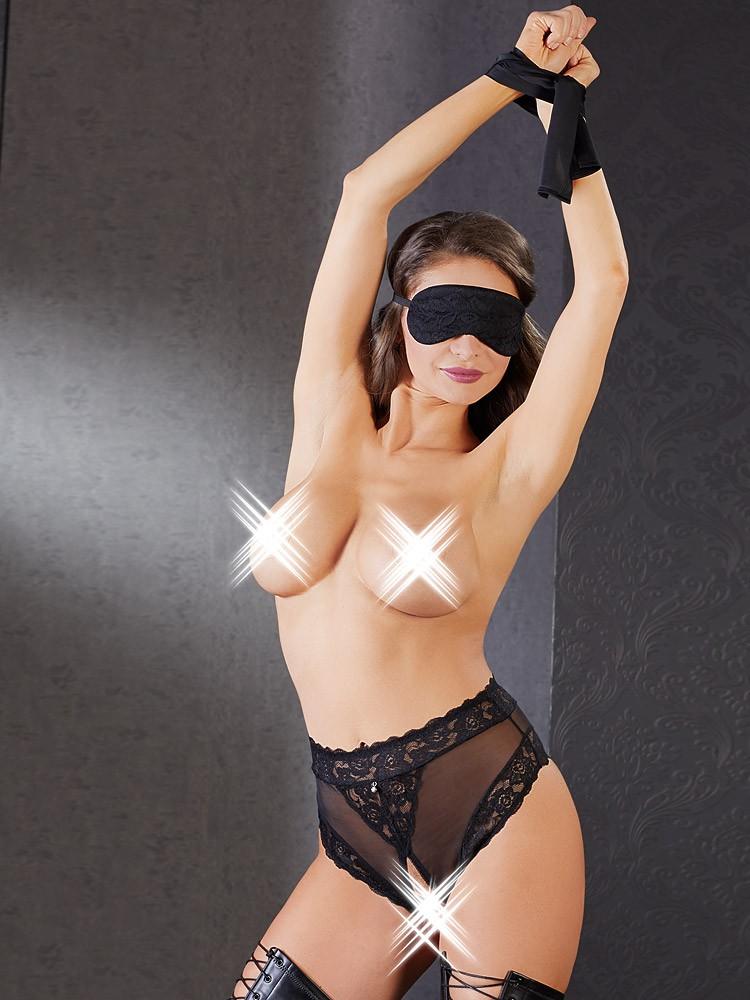 Bondage-Set 3teilig, schwarz