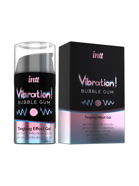 intt Liquid Vibration Bubble Gum: Intimgel (15ml)
