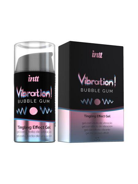 intt Liquid Vibration Bubble Gum: Intimgel (15ml)