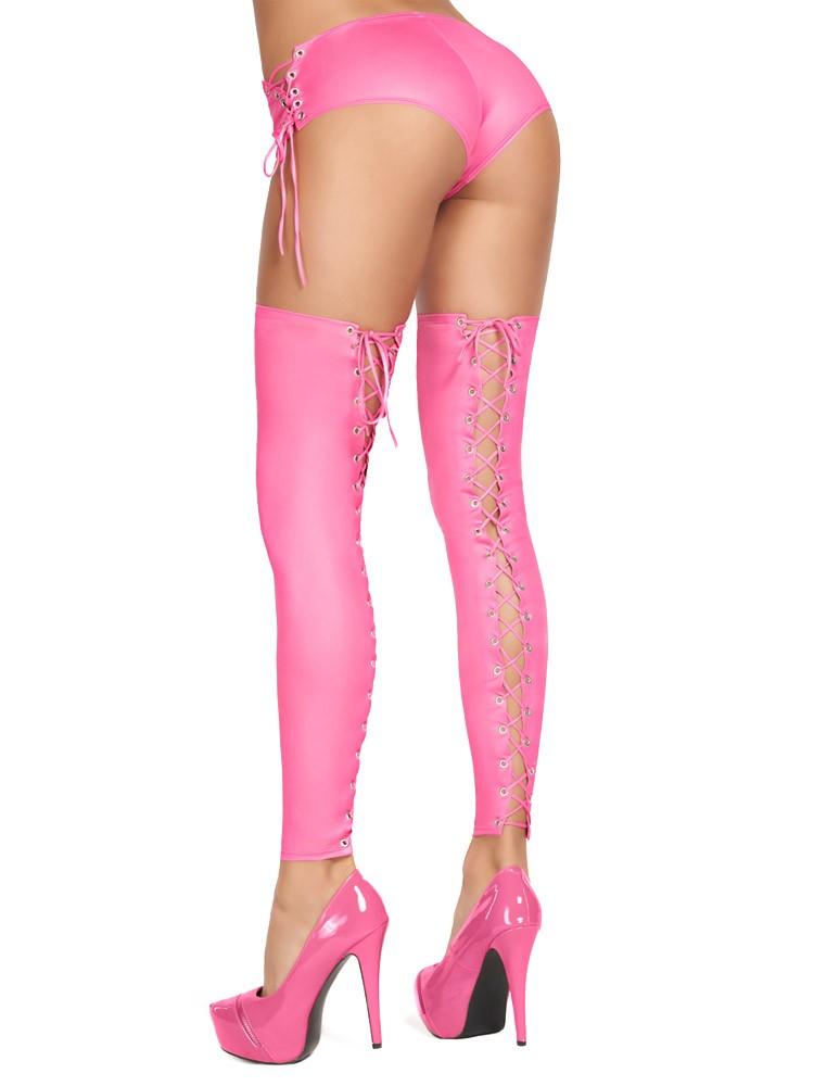 7-Heaven Wetlook-Stulpen: Casma, pink