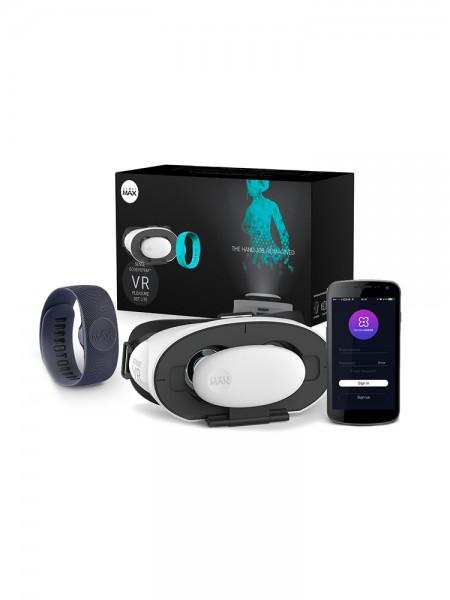 SenseMax VR Pleasure Set Lite: VR-Brille mit interaktivem Armband, schwarz