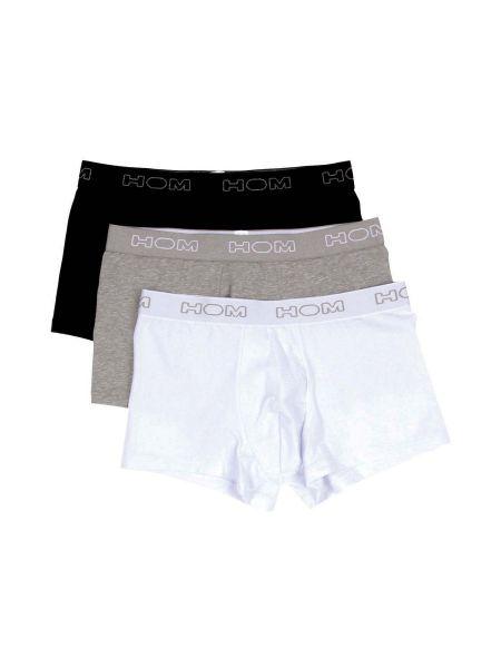 HOM Boxerlines: Boxer Pant 3er Pack, grau/schwarz/weiß