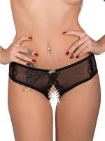 Eros Veneziani Beatrice: Ouvert-Panty, schwarz
