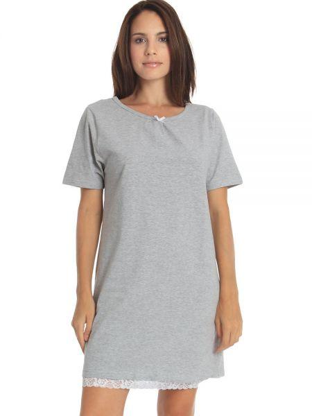 Sassa Melange Mix & Match: Nachthemd, grau