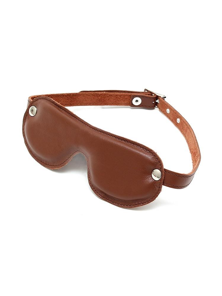 Rimba Leder-Augenmaske gepolstert, braun
