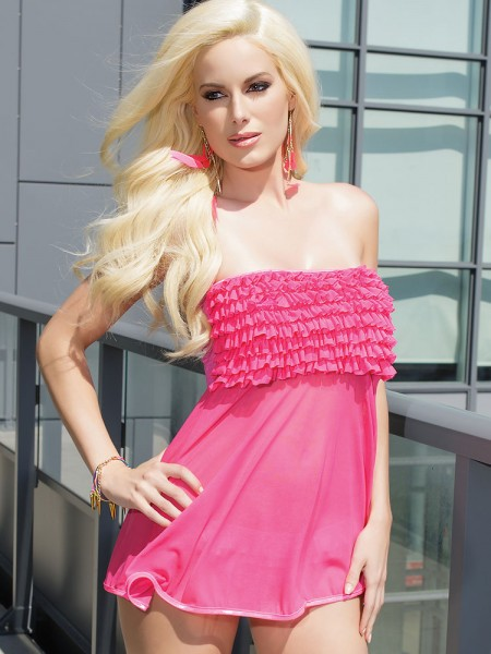 Coquette: Babydoll, neon pink