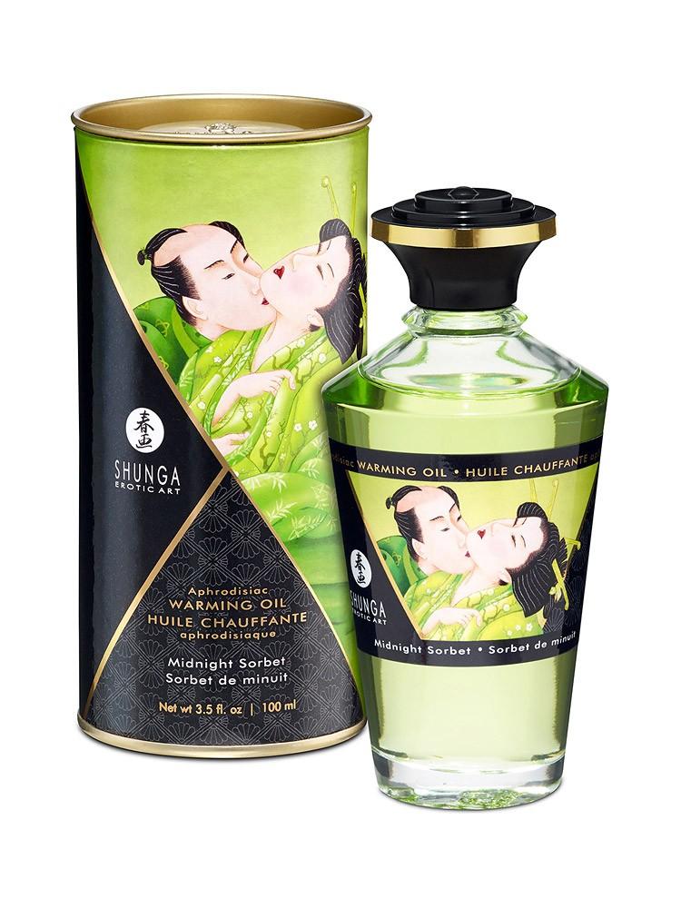 Shunga Intimate Kisses �l Midnight Sorbet: Körperöl (100ml)