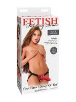 Fetish Fantasy First Timers: Strap-On Set mit Dildo, schwarz/rot