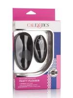Silicone Remote Panty Pleaser: Aufliegevibrator, schwarz