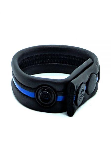 Neoprene Racer Gun Strap: Penisring, schwarz/blau