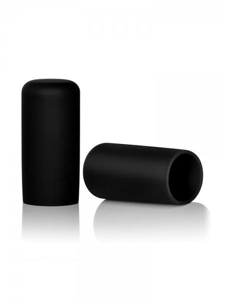 Silikon Nippelsauger, schwarz