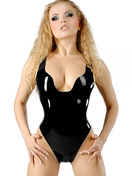 Latex-Body: Lady Jenna, schwarz