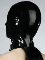 Latex-Kopfmaske, schwarz