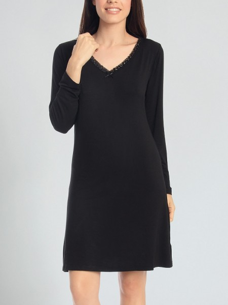 Sassa Casual Comfort: Nachthemd, schwarz