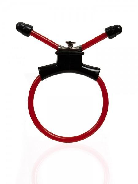 Ace Erection Ring: Penisschlaufe, rot/schwarz