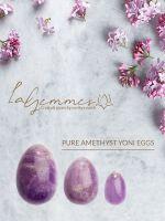 LaGemmes Yoni Egg Set: Liebes-Ei 3er-Set Amethyst, lila