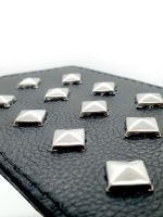 Black Label Leather Paddle With Studs: Leder Nieten-Paddle, schwarz