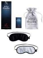 Fifty Shades of Grey: No Peeking Augenmasken-Set, schwarz/silber