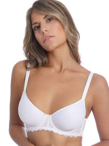 Sassa Fancy Lace: Flexicup Spacer-BH, weiß