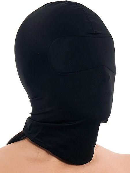Kopfmaske ohne Öffnungen, schwarz