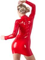 Latex-Minikleid, rot