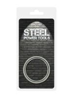 Steel Power Tools Ribbed: Edelstahl-Penisring (50mm)