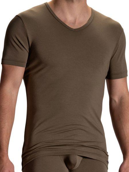 Olaf Benz RED2104: V-Neck-Shirt, olive