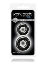 Renegade Double Stack: Penisring 2er Set, Schwarz