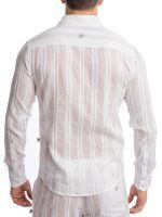 L'Homme Benares: Loungehemd, weiß