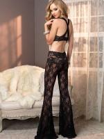 Leg Avenue: Lace Top und Pant, schwarz