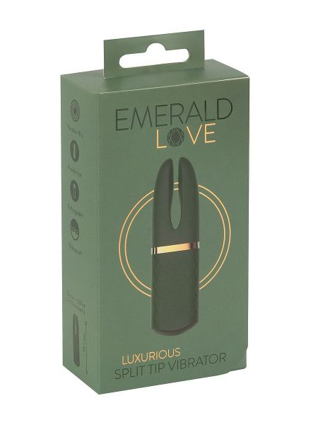Emerald Love: Luxuriöser Mini Aufliege-Vibrator, grün