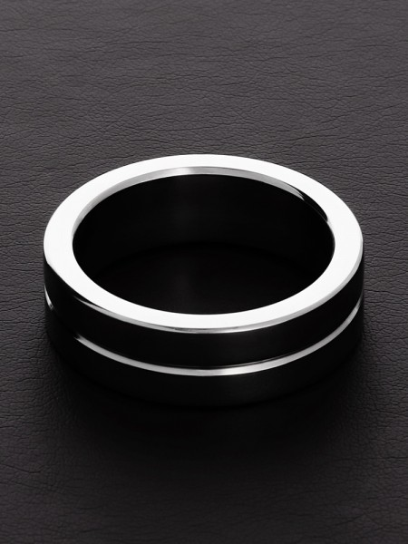 Triune Single Grooved C-Ring: Edelstahl-Penisring