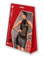 Allure: Wetlook-Netz-Minikleid, rot
