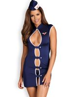 Obsessive Stewardess-Kostüm, blau