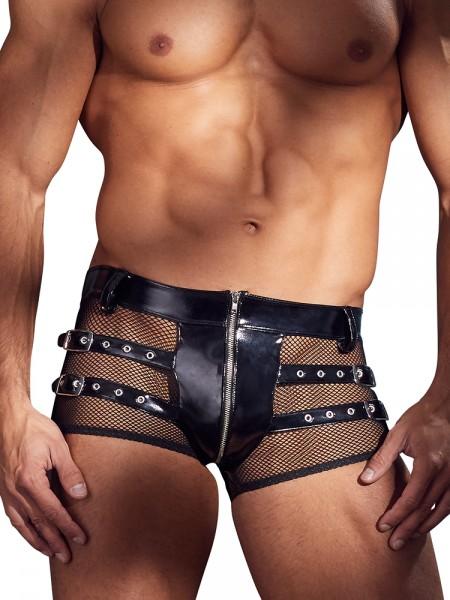 Lack-Netz-Pant, schwarz