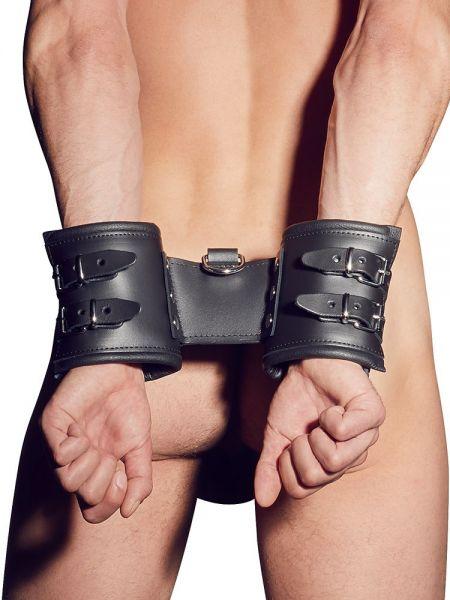 Leder-Handfesseln, schwarz